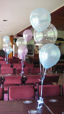 Christening balloon decorations for Balloon decoration ideas for christening