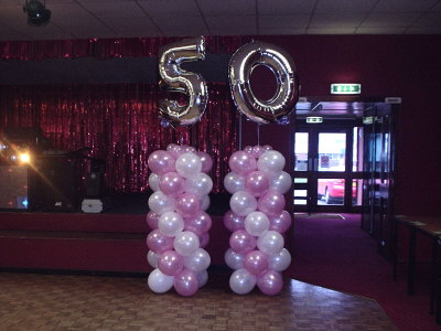 Columns pillar balloon decorations for 50 birthday party decoration