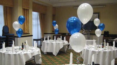 Blue And White Decorations Balloon Tablecentreroyal Blue White   Cheap  Wedding