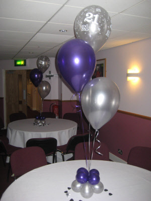 3 Balloon Tablecentre With Base